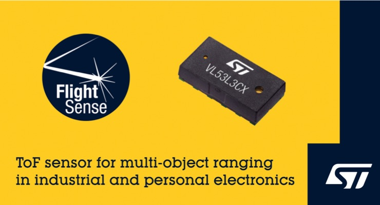 STMicroelectronics Extends FlightSense ToF Ranging Sensors