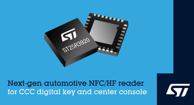 STMicroelectronics Reveals Next-Generation NFC Reader IC for Digital Car Keys