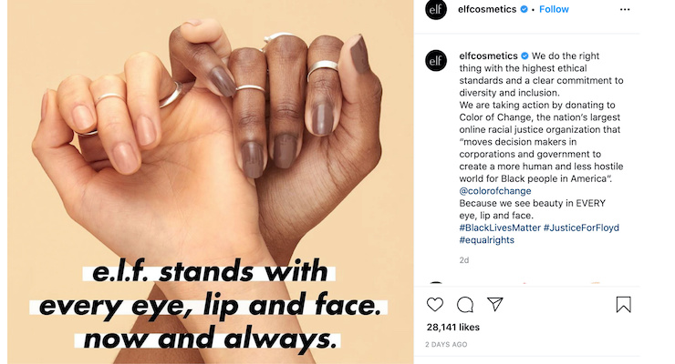 Beauty Brands Take a Stand & Join the Fight for Racial Equality in America
