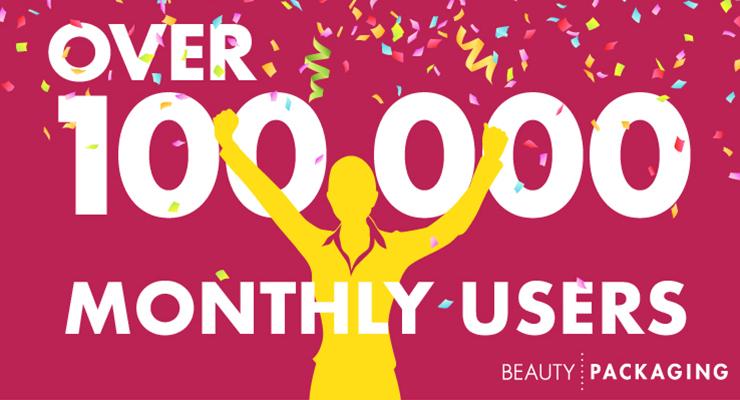 Beauty Packaging Surpasses 100,000 Unique Monthly Visitors