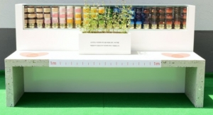 Amorepacific Makes A Bench from Empty Cosmetic Bottles