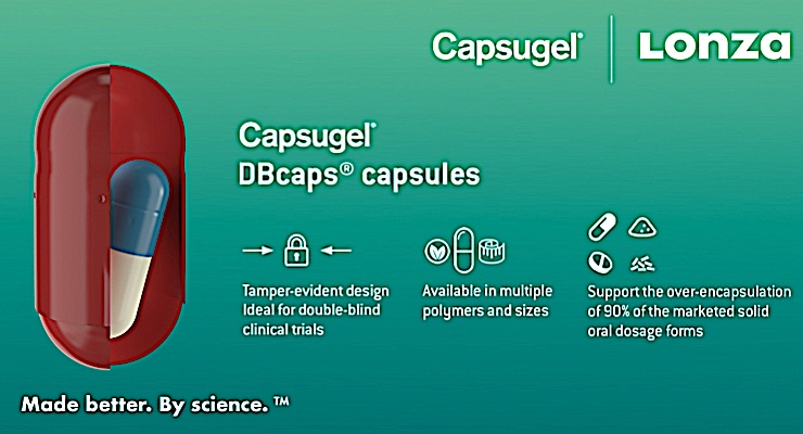 Lonza Introduces Capsugel DBcaps Double-blinded Capsules