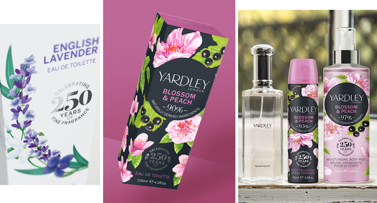 Pure Designs Yardley's 250th Anniversary Packaging
