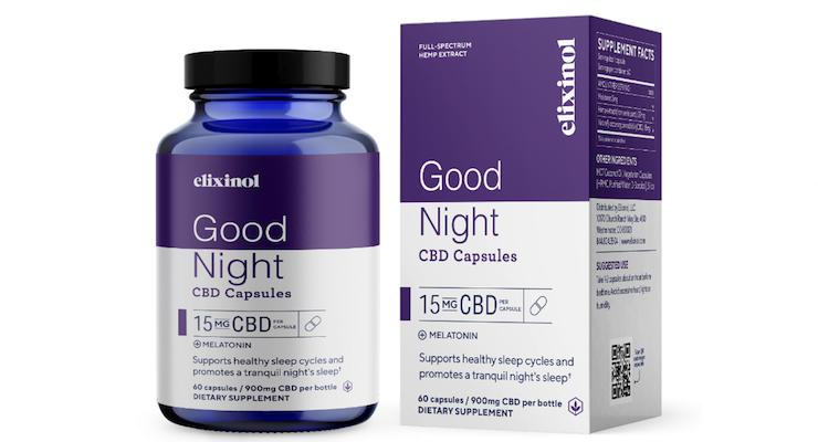 Elixinol Introduces Good Night CBD Capsules