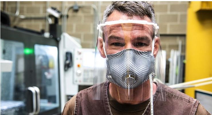 NREL Volunteers Design, Print Face Shields for Colorado Medical Facilities