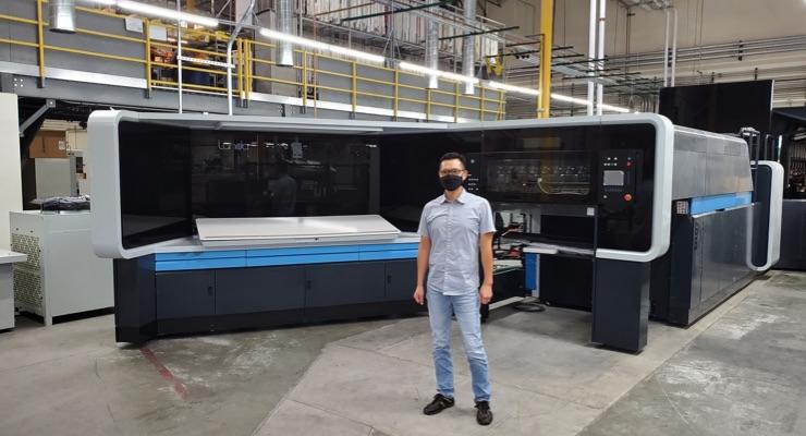 K-1 Packaging Group's Landa S10 Press Arrives in America