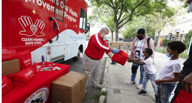 Colgate Vans Hit Road for COVID Relief