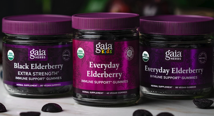 Gaia Herbs Launches Line of Elderberry Gummies