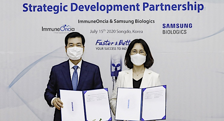 Samsung Biologics and ImmuneOncia Expand Partnership