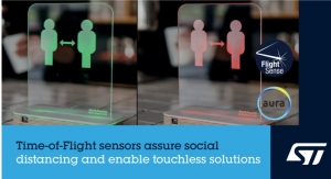 STMicroelectronics Enables Social-Distancing Applications with FlightSense Time-of-Flight Sensors
