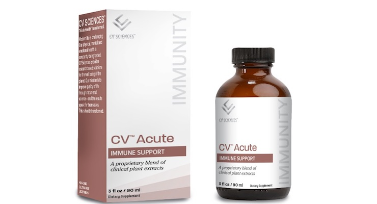 CV Sciences Expands Beyond CBD Territory with Launch of Immunity Products