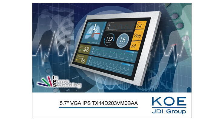 KOE Unveils Enhanced 5.7-inch VGA TFT Display
