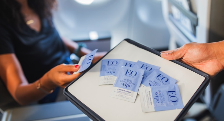EO Wipes Take Flight with Alaska Airlines