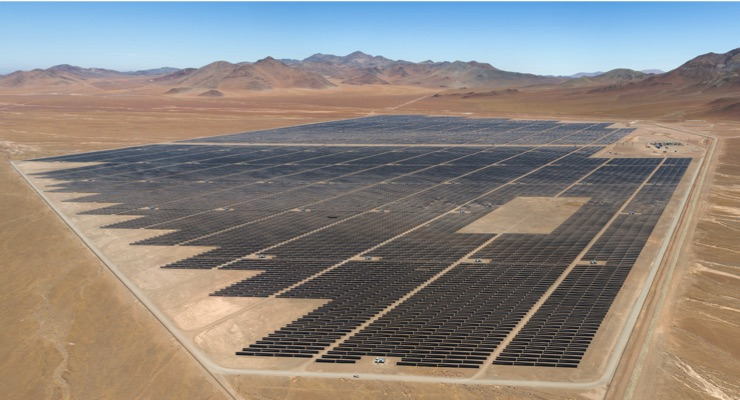 First Solar Power Plant in Chile is World's First to Deliver Grid Services