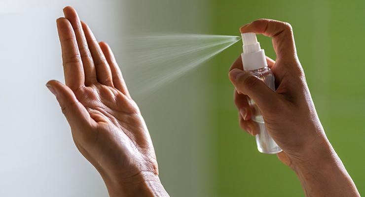 Alcohol Shea Hand Sanitizer Spray