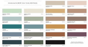 BEHR Reveals Color Trends 2021 Palette