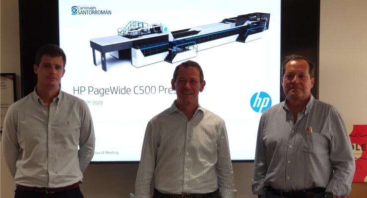 Cartonajes Santorromán Chooses HP C500 Press