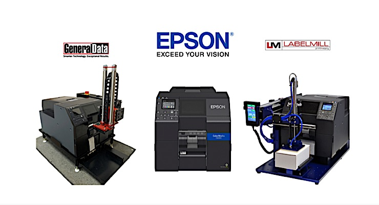 New label applicators available for Epson ColorWorks printer