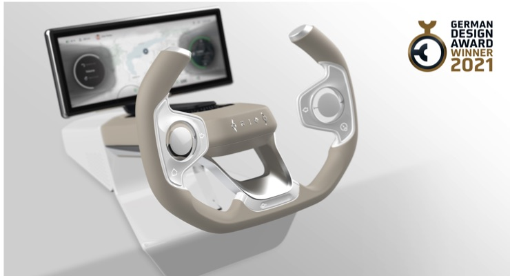 Origo Steering Wheel Wins German Design Award 2021 for Outstanding Design Quality