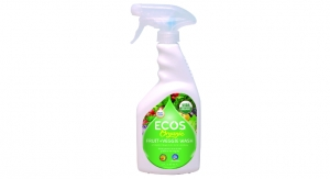 Ecos Debuts Organic Fruit & Veggie Wash