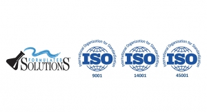 Formulated Solutions Earns ISOs