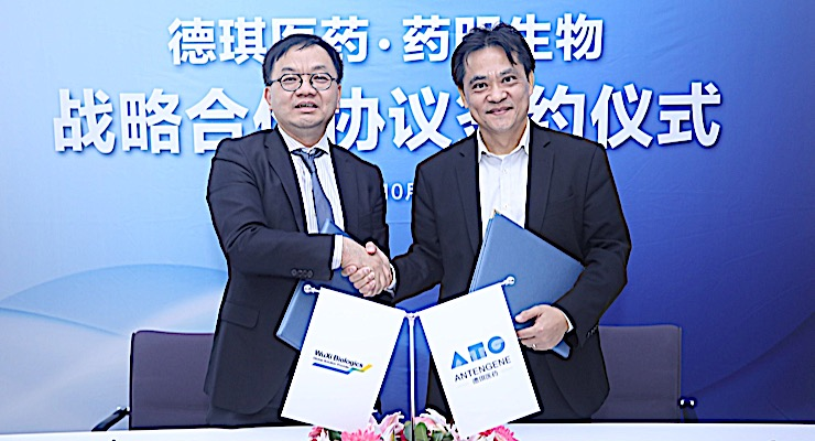 Antengene, WuXi Biologics Ink Innovative Oncology R&D Alliance