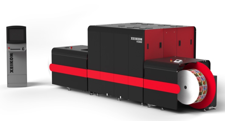 Xeikon introduces 7-color inkjet label press