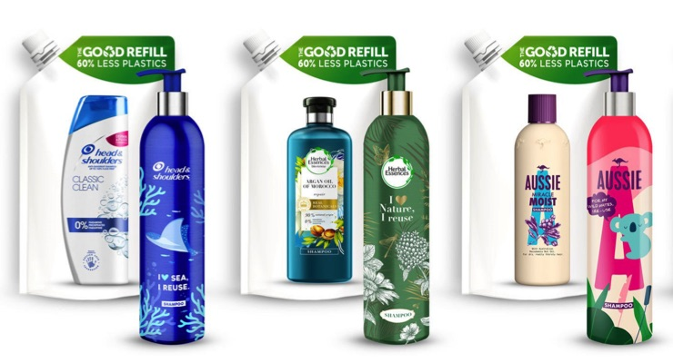 P&G Unveils Aluminum Reusable Bottle & Refill System in Europe