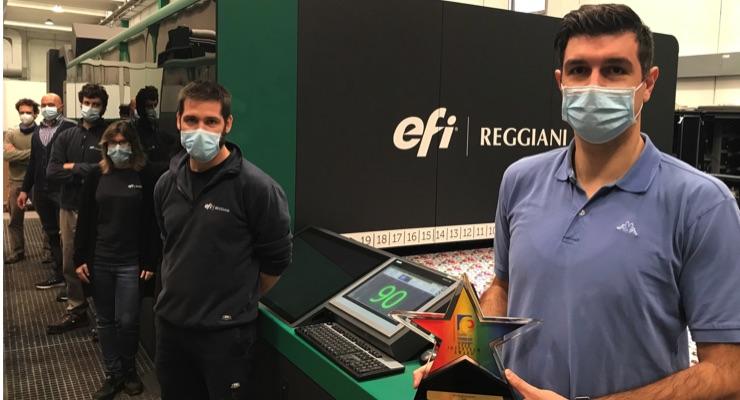 EFI Reggiani BOLT Textile Printer Receives InterTech Technology Award