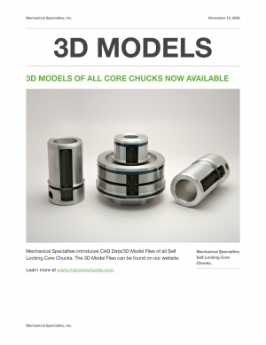 3D models of All Core Chucks Now Available