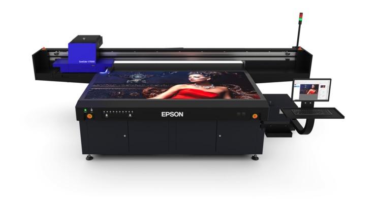 Epson Debuts SureColor V7000 10-Color UV Flatbed Printer