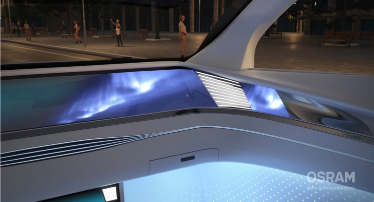 Osram Presents White LED Family for Automotive Ambient Lighting