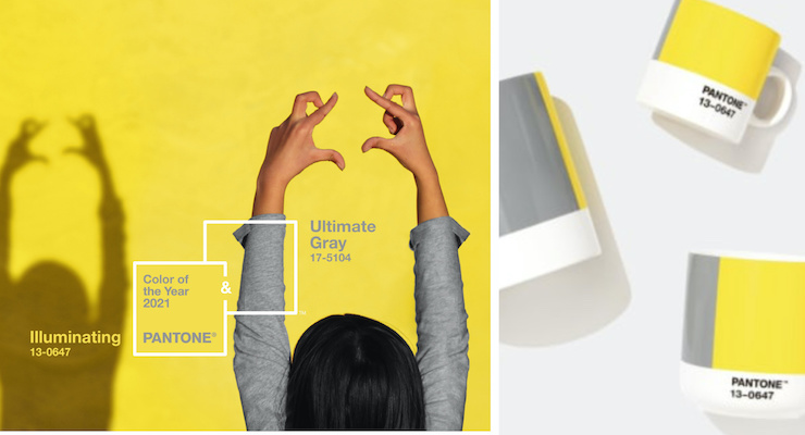 Pantone's 2021 Colours of the Year are Ultimate Gray and Illuminating