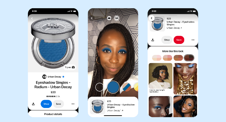 Pinterest Debuts AR Try On for Eyeshadow