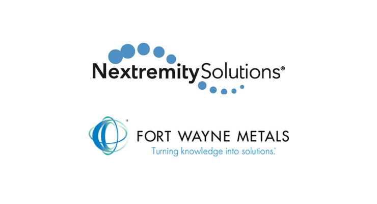 Nextremity Solutions Enters Supply Agreement with Fort Wayne Metals