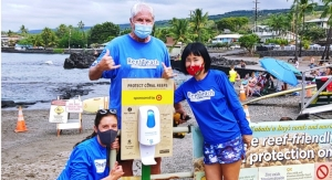 HI Beach Installs Reef-friendly Sunscreen Dispenser