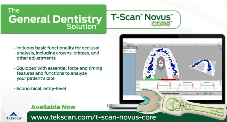 Tekscan Introduces T-Scan Novus Core
