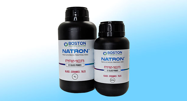 Boston Industrial Solutions Launches Natron G1 Primer for UV Inkjet Printing on Glass