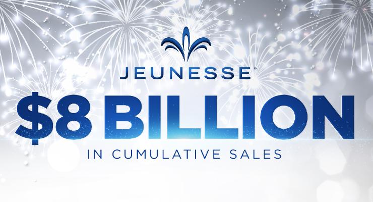 Jeunesse Achieves $8 Billion in Cumulative Worldwide Sales