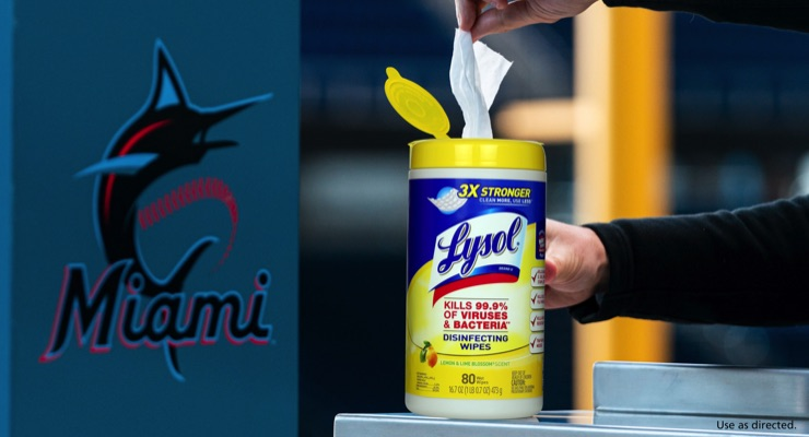 Marlins Clean Up with Lysol