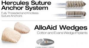 In2Bones Launches Hercules Suture Anchors, AlloAid Wedges