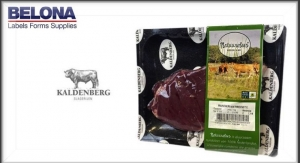 Linerless labels help Belona assist meat product client