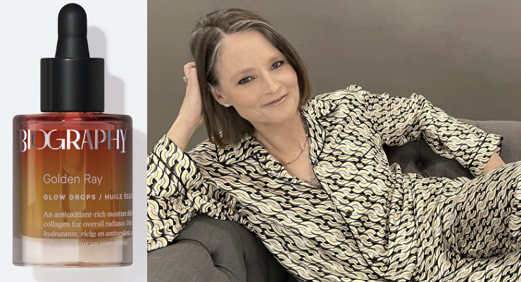 Jodie Foster Wears Biography Face Oil at the Golden Globes