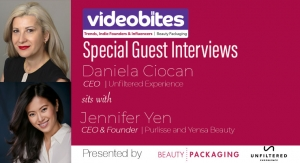 Videobite: Interview with Jennifer Yen, CEO & Founder, Purlisse and Yensa Beauty