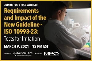 Requirements and Impact of the New Guideline- ISO 10993-23: Tests for Irritation