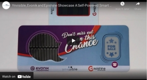 Ynvisible, Evonik and Epishine Showcase a Self-Powered Smart Signage Solution