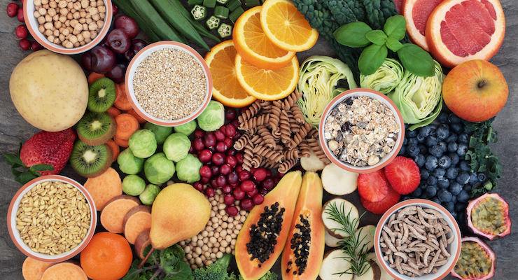 Serum Concentration of Antibodies to Mumps Associated with Dietary Fiber Intake