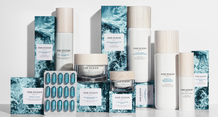 A Wave of Blue Beauty Brands Is Rolling In