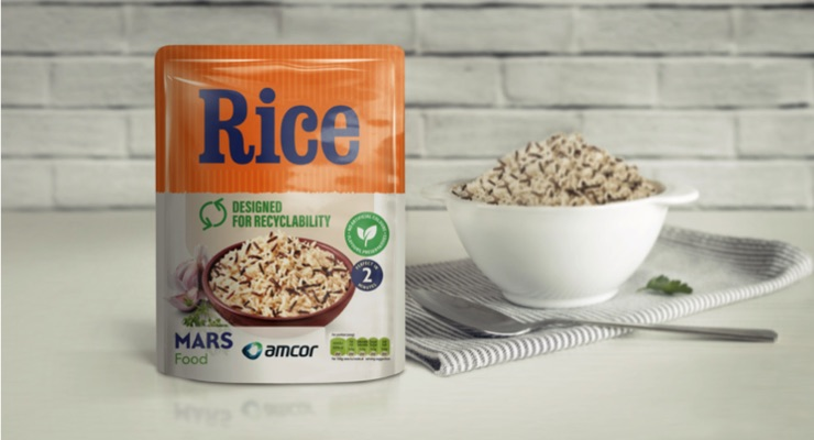 Amcor, Mars Food Celebrate Pilot of Designed to be Recycled Microwavable Rice Pouches