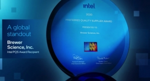 Brewer Science Earns Intel's 2020 Preferred Quality Supplier Award